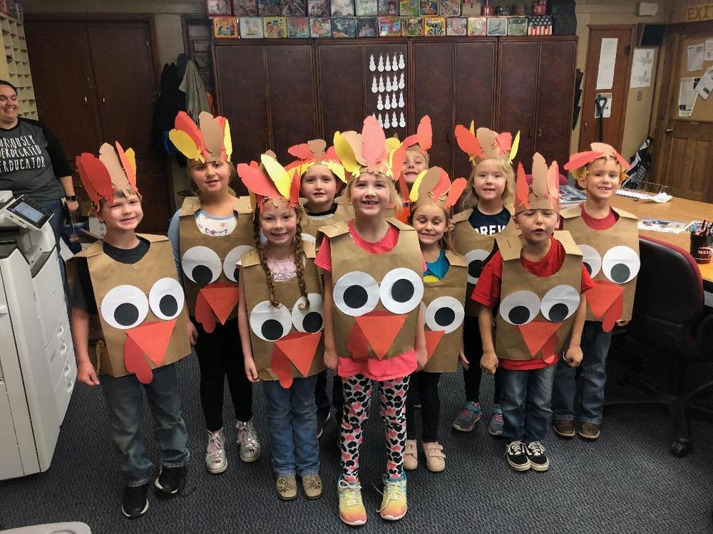 First Grade Turkeys Running Loose