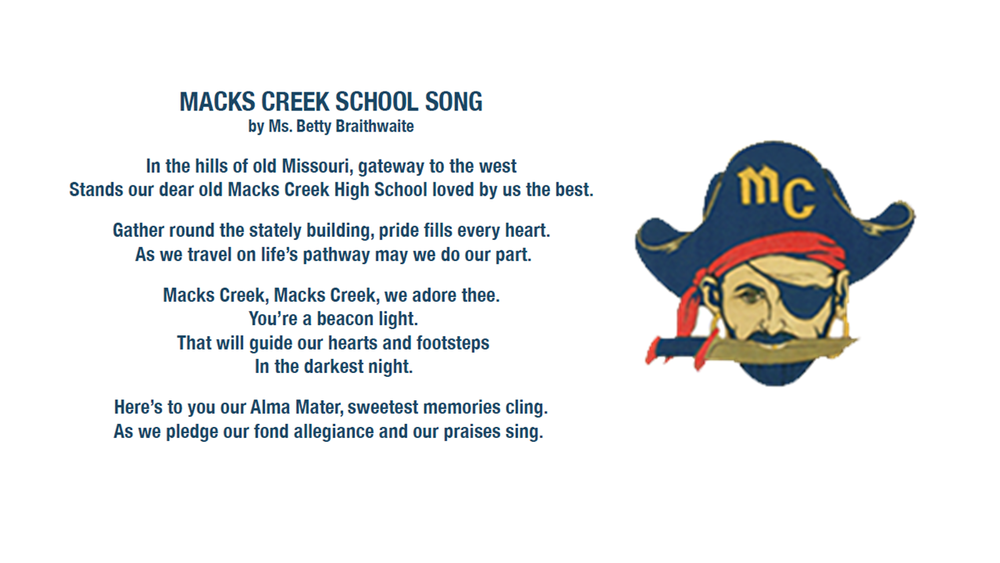 Rekindling a Tradition - The Macks Creek School Song