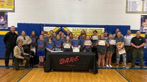 MACKS CREEK SIXTH GRADE STUDENTS RECOGNIZED FOR COMPLETING THE DARE PROGRAM