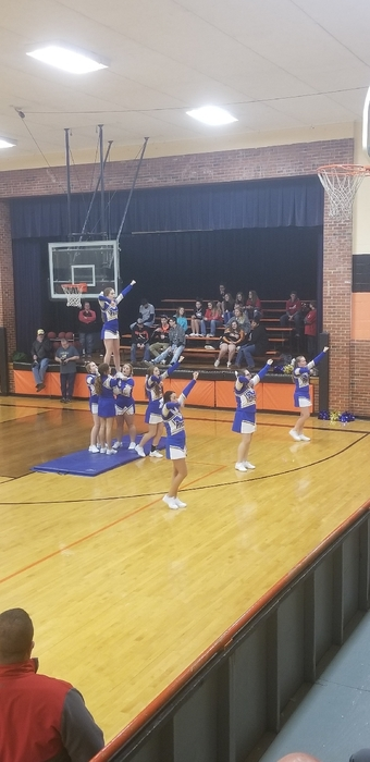 MC Cheerleaders showing lot of spirit!