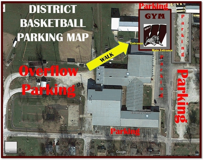 District Basketball Parking