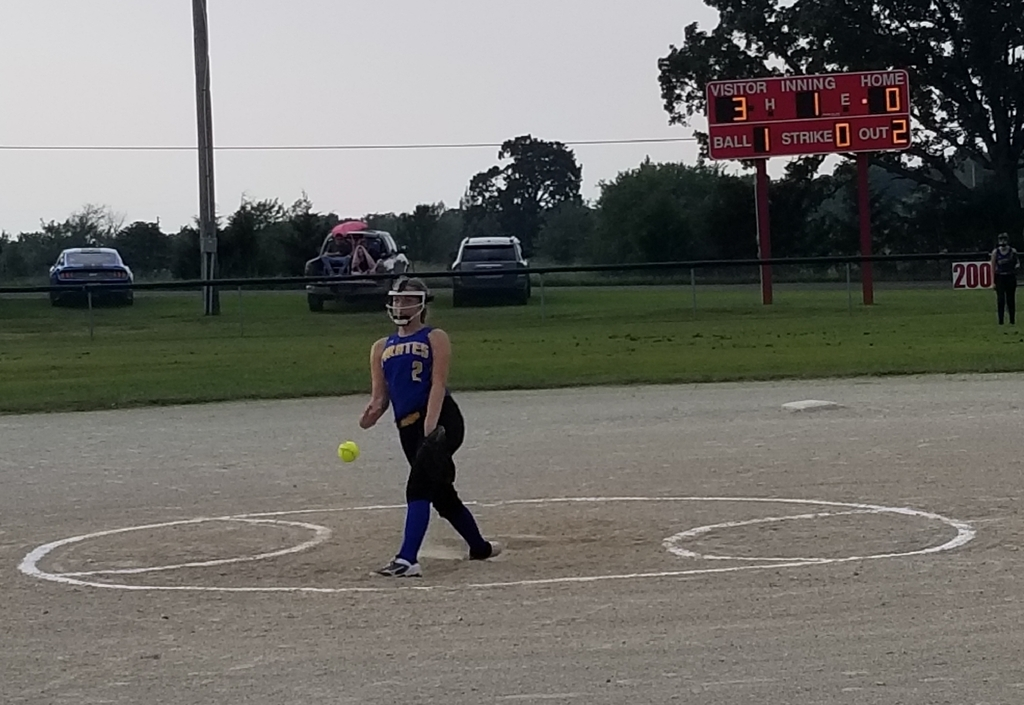 Bethany Schmidt on the mound...