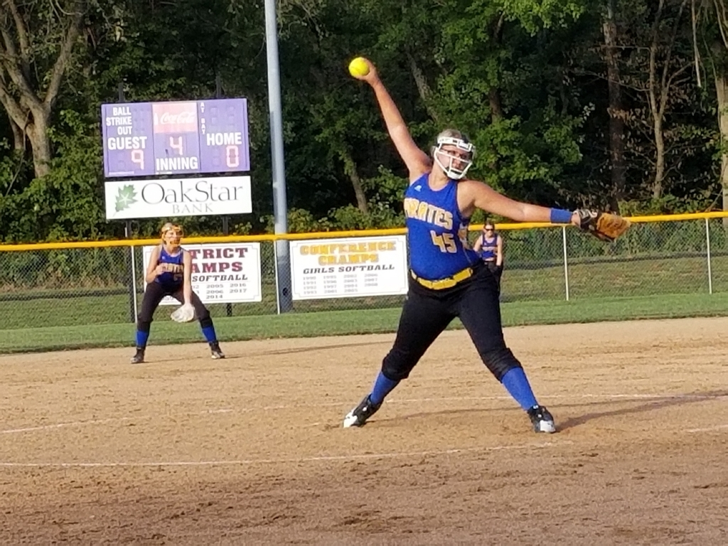 Shaylee on the mound