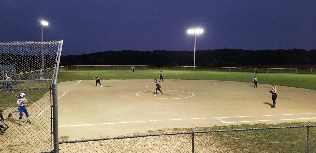 JV playing under the lights