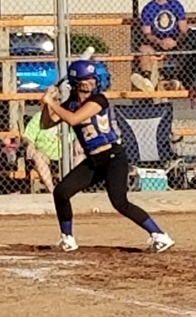 Courtney at bat
