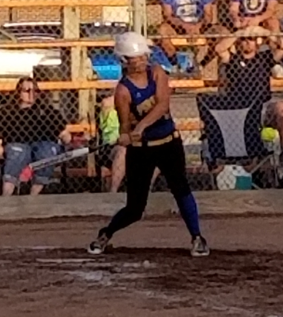 Caitlin at bat