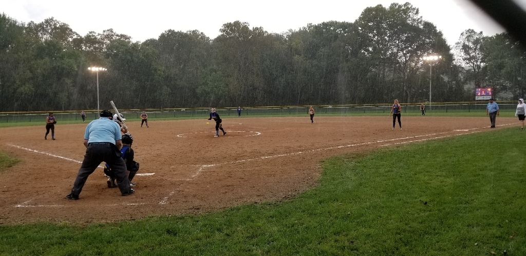 Rain, rain go away! The Lady Pirates want to play today!